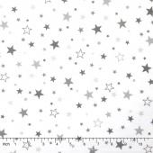 Cozy Cotton Flannels - Stars Pepper Yardage