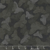 Chantrell - Butterflies Tonal Black Yardage