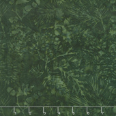 Candy Cane Lane Batiks - Pine Leaf Forest Yardage