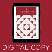 Digital Download - Kansas Red & White Quilt Pattern by Missouri Star