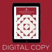 Digital Download - Kansas Red & White Quilt Pattern by Missouri Star