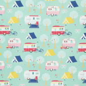 I'd Rather Be Glamping - Main Mint Yardage
