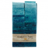 Stonehenge Gradations Brights - Lagoon Strips