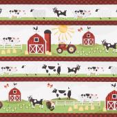 Country Life - Repeating Stripe Multi Yardage