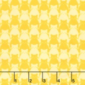 Kitty Kitty - Tonal Cat Yellow Yardage