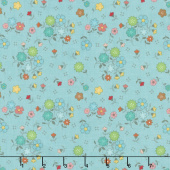 Autumn Love - Main Blue Yardage