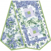 Watercolor Hydrangeas Log Cabin Table Runner POD™ Kit