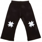 Missouri Star Knee Print Small Toddler Pants - Black