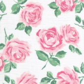 Embrace - Double Gauze Rose Garden Pink Yardage