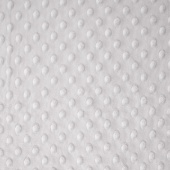 "Cuddle Embossed Dimple - Platinum 60"" Minky Yardage"