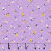 Aunt Grace Baskets of Scraps - Sprig Purple Yardage