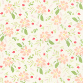 Summer Sweet - Garden Song Ivory Yardage