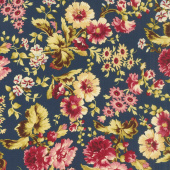 Bricolage - Large Floral Navy Yardage
