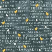Sunflower Market - Market Words Chalkboard Yardage