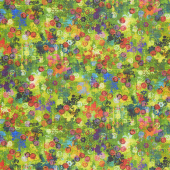 Flourish - Stained Glass Peridot Digitally Printed Yardage