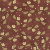 Another Moose Is Loose - Moosehead with Houndstooth Berry Yardage