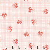 Mackinac Island - Printed Plaid Rose Yardage