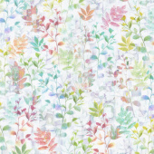 Reverie - Luminous Leaves Opal Digitally Printed Yardage