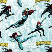 Marvel Comics III - Black Widow Tide Yardage