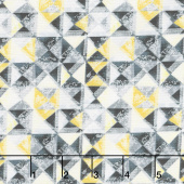 Limoncello - Mosaic Yellow Charcoal Pearlized Yardage