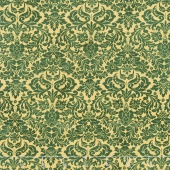 Shiny Objects - Holiday Twinkle Dazzling Damask Tannenbaum Metallic Yardage