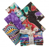 Cat-i-tude 2 5 Easy Pieces Metallic Fat Quarter Bundle