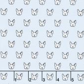 Whiskers & Tails - Dog Faces Sky Yardage