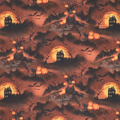 Haunted Night - Scenic Brown Yardage