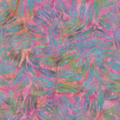 Petal Pushers Batiks - Fern Leaves Snowcone Yardage