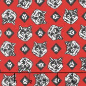 Cub Scouts - Cub Scouts Wolf Red Yardage