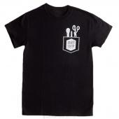 Man Sewing Pocket Tools Small T-Shirt - Black
