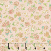 Alphonse Mucha - Flowers Pink Digitally Printed Yardage