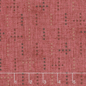 Tickled Pink - Dot Weave Red Yardage
