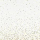 Ombre Confetti Metallic - Off White Yardage