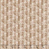 Walnut Creek - Floral Stripe Brown Yardage