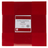 Cotton Supreme Solids Deep Red Patty Cake
