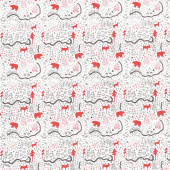 Wild at Heart - Map Cream Yardage