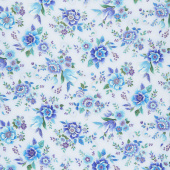 Regency - Majestic Flowers Lavender Metallic Yardage