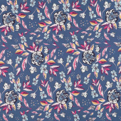 Mystical Land - Enchanted Flora Ablue Blue Yardage