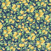 Summer Breeze V - Buttercup Navy Yardage