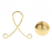 Lapel Pin Buddy Adapter - Gold Plated for Dangle Bar