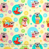 I Spy - Sewing Bears Yellow Yardage