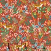 Menagerie - Jungle Red Yardage