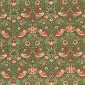 Best of Morris Fall - Strawberry Thief 1883 Pine Yardage