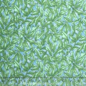 The Rainbow Fish - Seaweed Green Light Blue Yardage