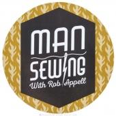 Man Sewing Magnet - Logo Gold