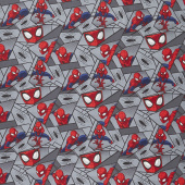 Spider-Man - Block Grey Yardage
