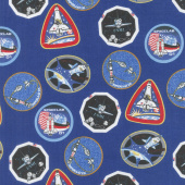 Out of this World with NASA - Nasa Patches Blue Yardage