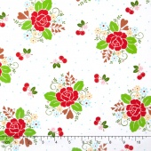 Sew Cherry 2 - Main White Yardage