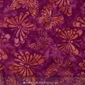 Artisan Batiks - Daisy's Garden 3 Butterflies Rose Yardage